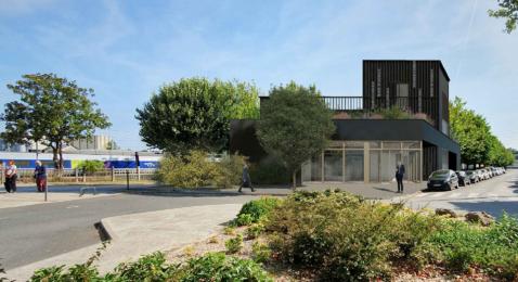 Vue 3D du futur bâtiment de La Virgule
